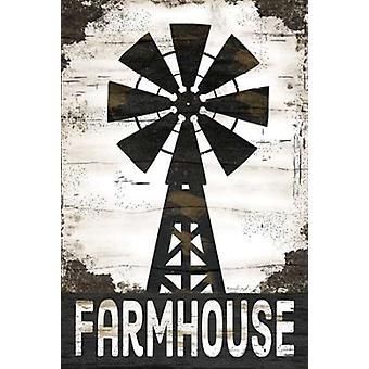 Farmhouse Windmill Poster Print by Jennifer Pugh