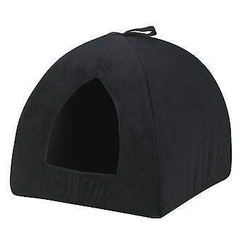 Catrine Cat Den Suede Black 43x43cm