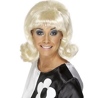 50s 60s parrucca capelli lunghi