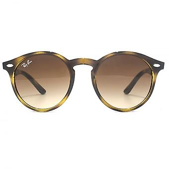 Ray-Ban Junior Keyhole Round Sunglasses In Havana