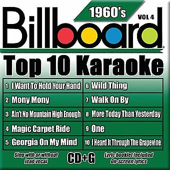 Billboard Top 10 Karaoke - Vol. 4-60's-Billboard Top 10 Karaoke [CD] USA importerer