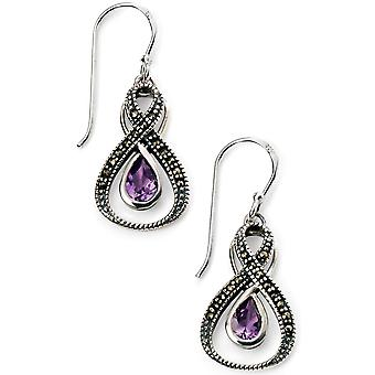925 Silver And Amethyst Earring Mercasit
