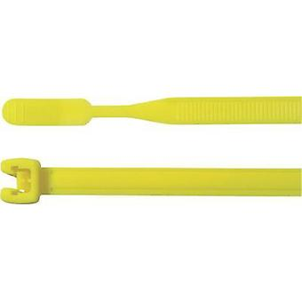 Cable tie 155 mm Yellow Open end HellermannTyton 1