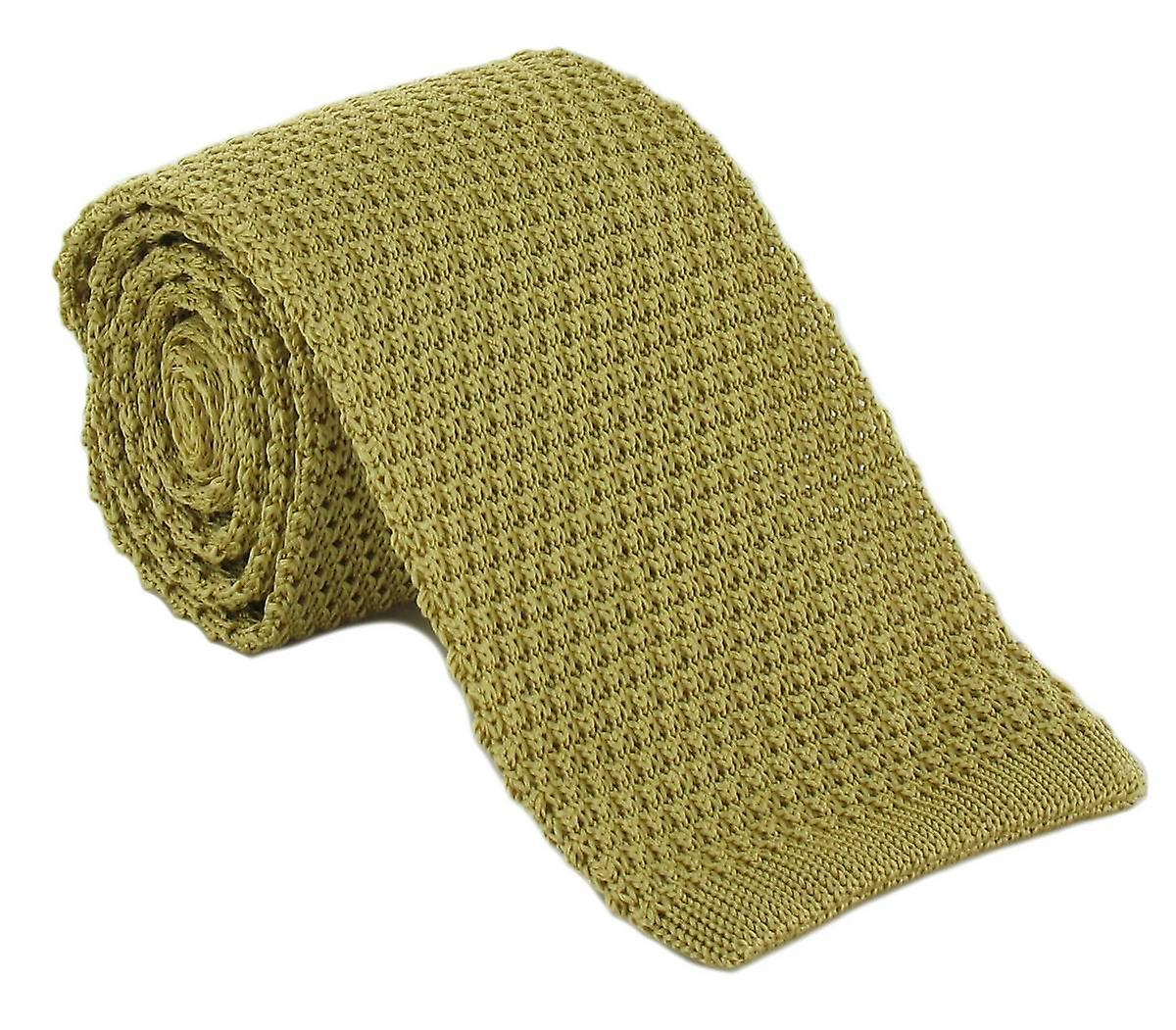 Michelsons of London Silk Knitted Tie - Yellow
