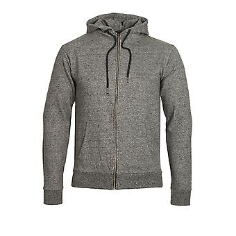 BELLFIELD Tilbury Zip Through Hoodie | Grey Marl