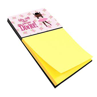 Ballet Long Hair African American Sticky Note Holder