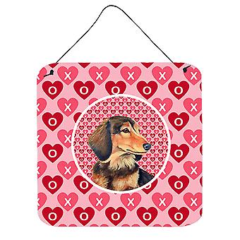 Dachshund Valentine's Love and Hearts Wall or Door Hanging Prints