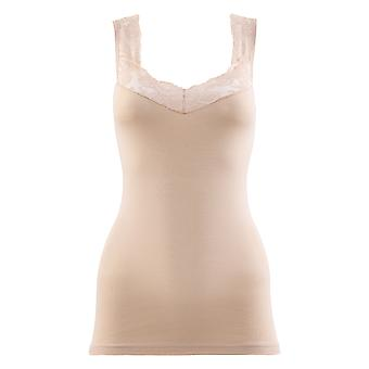 BlackSpade Private Nude Cotton Lace Singlet Vest Top 1957