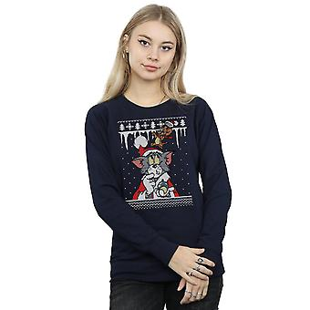 Tom And Jerry Women's Christmas Fair Isle Sweatshirt