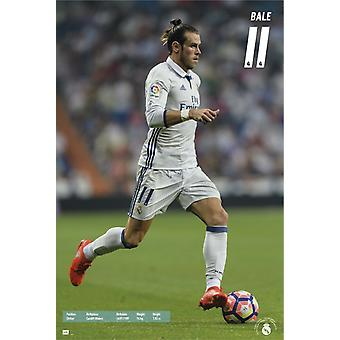 Real Madrid 2016-2017 Bale azione Poster Poster Print