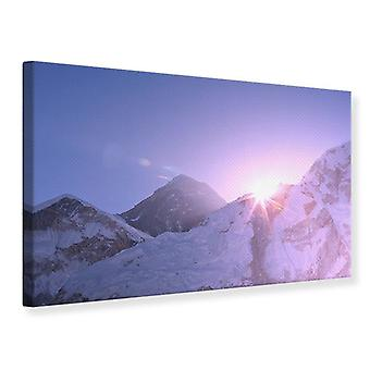 Canvas Print Sunrise At Mount Everest