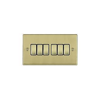 Hamilton Litestat Hartland Polished Brass 6g 10AX 2 Way Rocker PB/BL