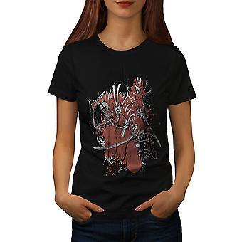 Warrior Fantasy Katana vrouwen gekleedinzwartet-shirt | Wellcoda