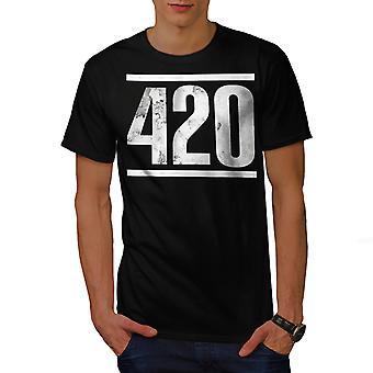 Time For Weed Symbol Men BlackT-shirt   Wellcoda