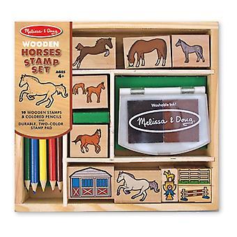 Cavalli di Melissa & Doug Wooden Stamp Set