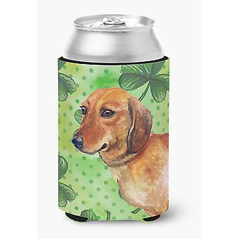 Carolines Treasures  BB9826CC Dachshund St Patrick's Can or Bottle Hugger