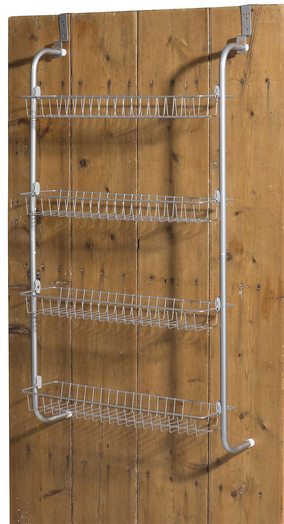 4 tier ber der t r h ngen rack regale f r vorratskammer oder schrank fruugo. Black Bedroom Furniture Sets. Home Design Ideas