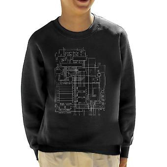 Commodore 64 Computer Schematic Kid's Sweatshirt