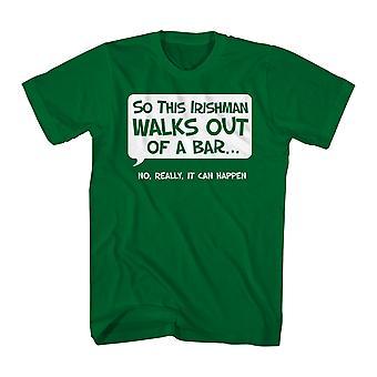 Humor så en irländare mäns Kelly grön rolig T-shirt