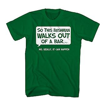 Humor So An Irishman Men's Kelly Green Funny T-shirt