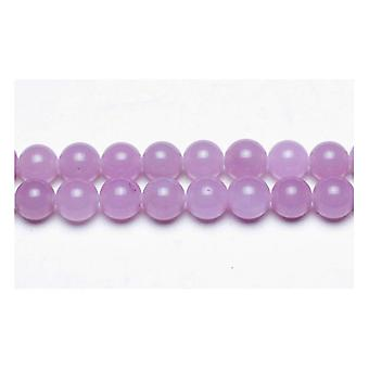 Strand 62+ Lilac Malaysian Jade 6mm Plain Round Beads GS9970-2