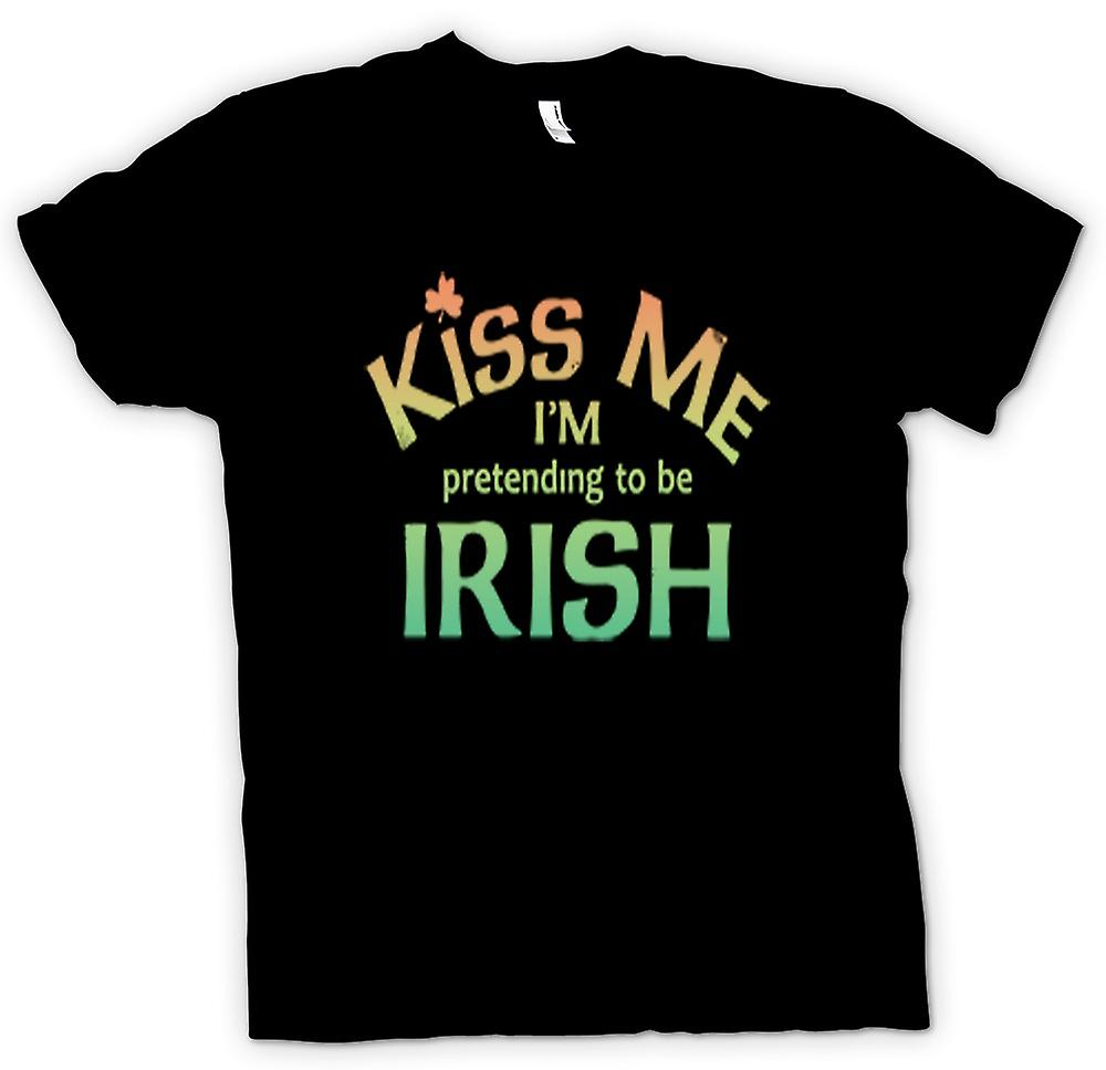 Kids T-shirt - Kiss me I'm pretending to be Irish
