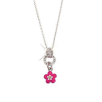 Scout niños collar cadena plata flor rosa Chicas Chicas 261066200