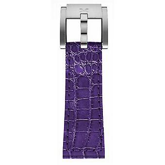 TW steel Marc Coblen Bracelet Watch band 22 MM crocodile leather purple LB_V_K_S
