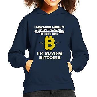 Jeg kan se ut som Im lytte men Im kjøpe Bitcoin barneklubb Hettegenser