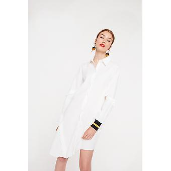 Ghospell Shirt Dress With Cuff Detailing