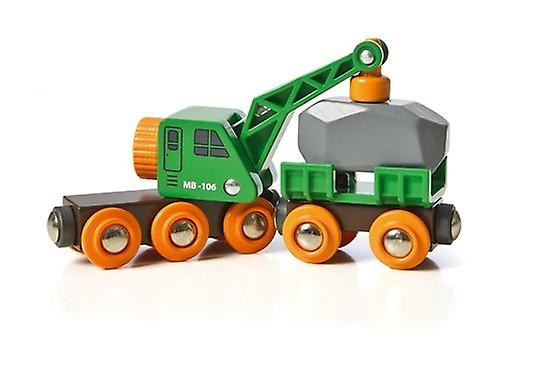 BRIO Clever Crane Wagon 33698 Wooden Railway Rolling Stock