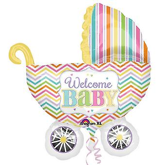 Amscan Supershape Welcome Baby Carriage Balloon