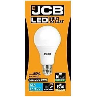 1 X JCB LED 15 Watt Screw Cap GLS Lamp Warm White 3000K 100W Replacement ES E27 LED Bulb[Energy Class A+]