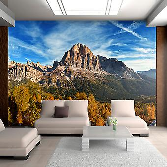 Wallpaper - Panoramic view of Italian Dolomites