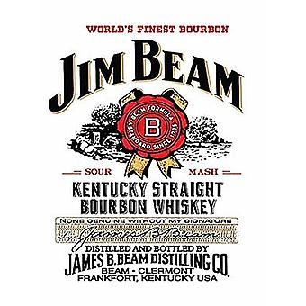 Jim Beam Large Metal Sign 400Mm X 300Mm