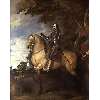 Equestrian Portrait of Charles,Anthony Van Dyck,50x40cm