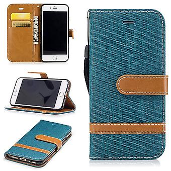 Case for Apple iPhone 7 Jeans cover cell protection sleeve Case Grün