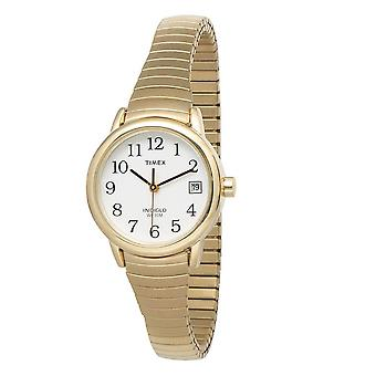 Timex T2H351 Indiglo Easy Reader Expandable Band Ladies Analog Watches - Gold