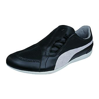 Puma Zing Mesh Womens Leather Trainers / Shoes - Black
