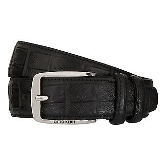 OTTO KERN belts men's belts leather belt black 7483