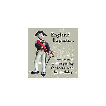 Union Jack porter Nelson - England Expects carte d'anniversaire