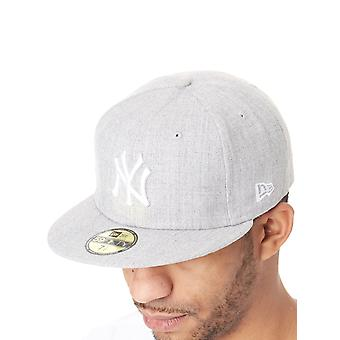 Nuova Era Heather Grey-White League base 59Fifty New York Yankees Fitted Cap