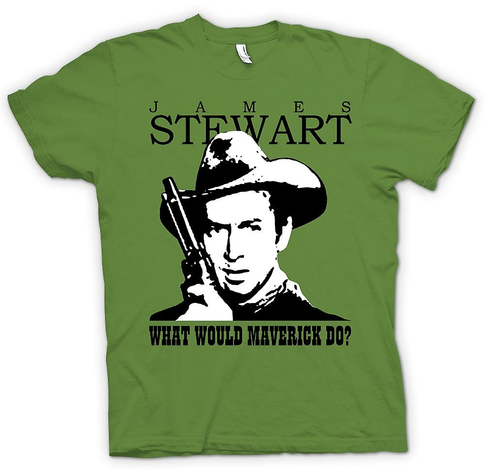 Mens t-skjorte - James Stewart - Maverick Cowboy