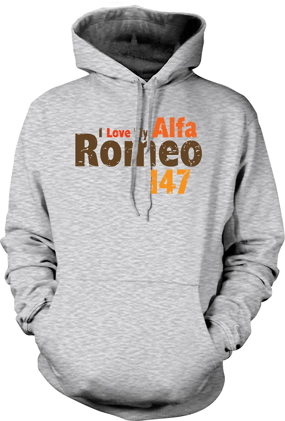 Mens Hoodie - I Love My Alfa Romeo - Car Enthusiast