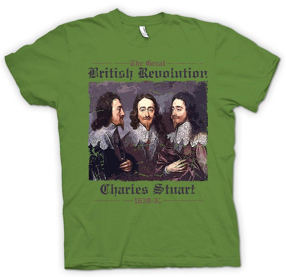 Mens T-shirt - The Great British Revolution - Charles Stuart
