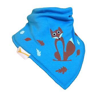 Blue fox bandana bib