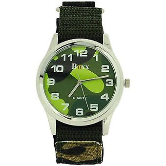 Boxx Gents Jumbo Camouflage Army Dial & Army Easy Fasten Strap Watch BOXX280