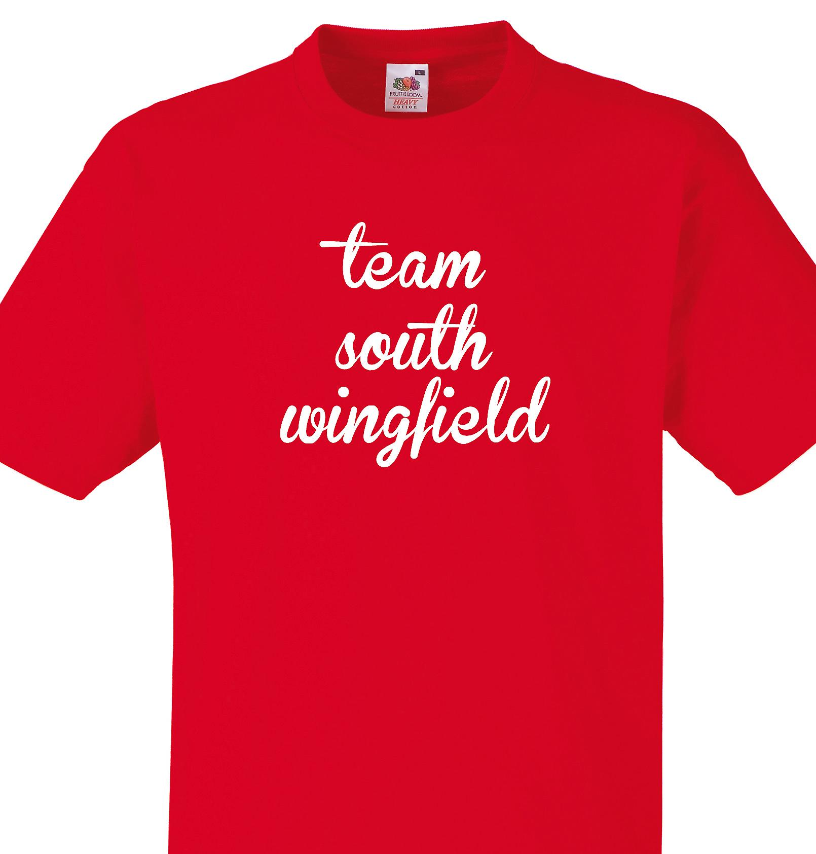 Team South wingfield Red T shirt
