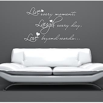 Live Laugh Love v2 Wall Sticker