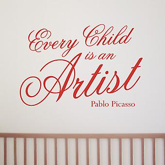 Every Child Picasso wall art sticker